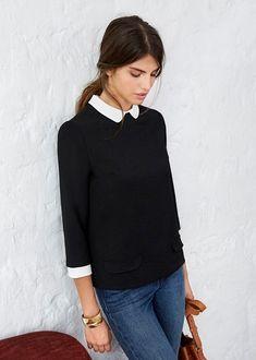 """Résultat de recherche d'images pour """"blouse indie sezane noir"""""""
