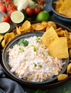 This cool, creamy and cheesy corn dip is the perfect party appetizer or side dish with dinner! Thanks to grated cheddar, zesty Rotel diced tomatoes with green chilies, green onions and Ranch seasoning, every bite is packed with flavor. Serve the easy fiesta corn dip with Fritos or tortilla chips and a cold drink for a fun, satisfying and crowd-pleasing dish. Best of all, the convenient make-ahead recipe is ready in just 5 minutes! We all need a handful of quick and easy snacks, party…