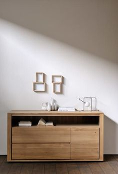 Oak Shadow chest of drawers by Ethnicraft