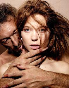 Vincent Cassel and Lea Seydoux for Premiere Magazine, March 2014