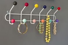 Make This Midcentury Style Colorful Hook Rack | eHow Home