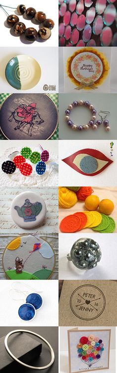Round by ThrownInStone on Etsy--Pinned with TreasuryPin.com