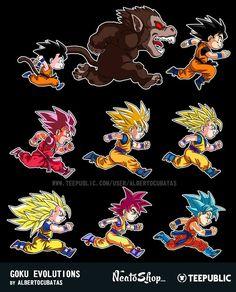 Dragon Ball, Son Goku Evolution