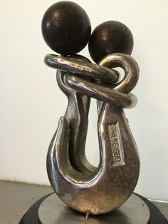 Metal handmade sculpture FOREVER TOGETHER from by AtelierIslandArt