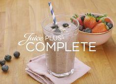 Juice PLUS+ blauwe bessen en haver smoothie