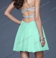 Short Prom Dress Aline Sweetheart Mini Chiffon Prom by verydress