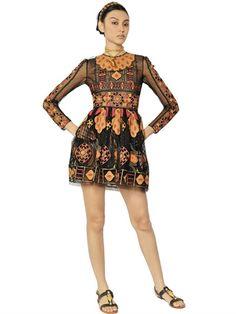 VALENTINO  COTTON ARABESQUE EMBROIDERY DRESS - http://lustfab.com/shop-lust/valentino-cotton-arabesque-embroidery-dress/