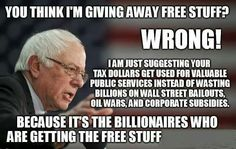 Say It Again & Perhaps People Will Understand That The 1% Is Working Extremely Hard & Throwing Tons Of Money & Media Time In An Attempt To Insure This Man Does Not Win. IF HE DOES... The 99% of US WILL HAVE A VOICE. Believe Me the 1% Will Do Anything To Insure That Does Not Happen. As for ME... #BERNIESTRONG.