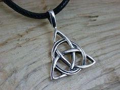 925 Sterling Silber, Keltisches Dreieck, Kelten, Ketten-Anhänger, Dreifaltigkeit