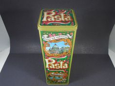 VINTAGE CASA VIA VARICCIO PASTA ADVERTISING TIN CAN RETRO DECOR AD KITCHEN HOME #CASAVIAVARICCIOPASTA