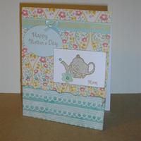 Happy Mother's Day Mom, Tea Kettle Country English Floral from Callie's Cards and Crafts