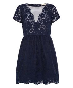 Another great find on #zulily! Navy Lace Party Dress by Iska London #zulilyfinds