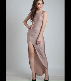 Heading out for a #DateNight? Sweep him off his feet in our Rose Gold High-Low Maxi Dress.. Add a statement choker, box clutch, winged liner, berry lips and tousled hair for that #perfectmoment❤ Product SKU  D0096  #datenight #themoment #love #saturdaynight #dressedup #dressedtokill #muchlove #divaatfashion