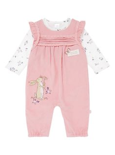 Teddy Bear Clothes, Baby Embroidery, Baby Girl Fashion, Long Sleeve Bodysuit, Dungarees, Pink Girl, Smocked Clothing, Baby Kids, Girl Outfits