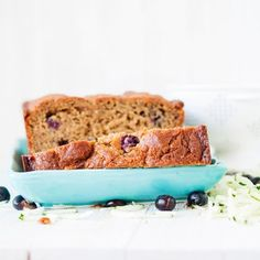 Summer Blueberry-Zucchini Bread (Gluten-Free, Refined Sugar-Free)