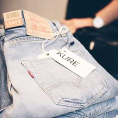 | LEVI'S jeans selection |  #instore #newarrivals #levis #bluejeans #kure #conceptstore #brussels #yay#denimaddiction #goodnight #igers