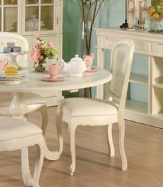 Furniture123 Nouvelle Cream Rattan Dining Chair (pair)