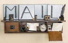 Letters just get better and better! Eyelets and rivets give a modern industrial look to this simple DIY project.