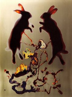 Adam Fuss  Love, 1993, Cibachrome photogram, 124.5 x 98.4 cm, Uniek exemplaar