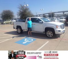https://flic.kr/p/zJg2q7   Happy Anniversary to Gary on your #GMC #Canyon from Joshua Lewis at McKinney Buick GMC!   deliverymaxx.com/DealerReviews.aspx?DealerCode=ZAKC