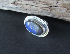 Large Labradorite Ring  Sterling Silver by QuietTimeJewelry