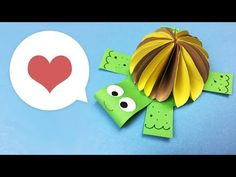 Paper DIY for kids | Cute turtle craft | Easy to make for everyone - YouTube