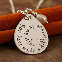 Teacher appreciation Necklace  Hand Stamped by IntentionallyMe, $47.00