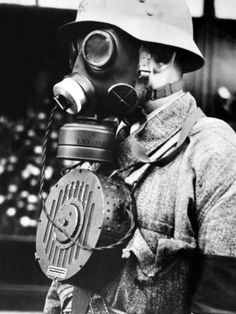 """prolidepp: """" Hungarian soldier wearing a new kind of gas mask with microphone to enable conversation, Nov 1939 """" Gas Mask Art, Masks Art, Gas Masks, In The Air Tonight, Somewhere In Time, European History, Dieselpunk, Enabling, World War Ii"""