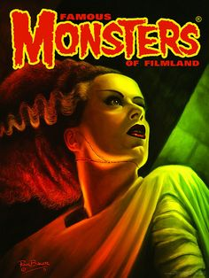 """18""""x24"""" Poster of Rick Baker's Artwork from the cover of Famous Monsters #281."""