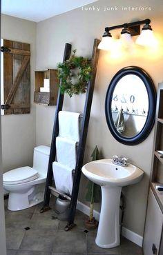 bathroom towel holder--ladder
