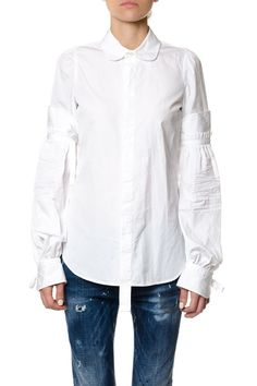 DSQUARED2 DSQUARED2 FLARED SLEEVES COTTON SHIRT. #dsquared2 #cloth #