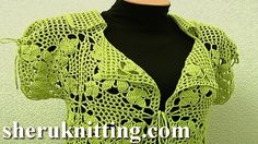 Square Motif Lady's Jacket Tutorial 11 Part 1 of 3 Crochet Square Motif Free Pattern  https://www.youtube.com/watch?v=m-zZ5V3Sv_g In this tutorial you can dinf beautiful crochet square motif, crochet square motif jacket, crochet lady's cardigan, crochet patterns for women, crochet clothing for women. In tis step by step tutorial we will show you  how crochet jacket/cardigan. In this part 1 we will show how crochet square motif, which is basic pattern of jacket. Continue  in PART 2!