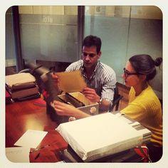12_09_2013 Corrección de los portfolios de los alumnos del curso Técnico y Curso Profesional. Con Verónica Fieiras y Felipe G. Segovia