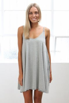 holly dress - grey.. perfect for hot summer nights