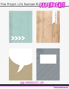PL: Patterned free printable #pattern #free #printable #digital #projectlife