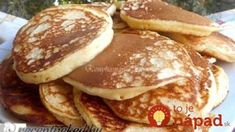 To je nápad! Quick Recipes, Sweet Recipes, Griddle Cakes, Tasty Kitchen, Mini Cheesecakes, Sweet Desserts, Nutella, Ham, Pancakes