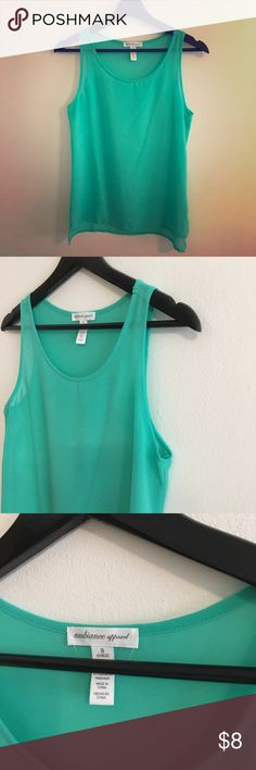 Bright green top size small This green top was worn only once or twice. In very good condition. Size small Tops
