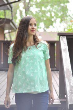 stenciled fabric shirt: stenciling fabric to make custom fabric. brilliant.