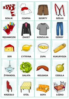 Polish vocabulary - Clothes, etc Kids Learning Activities, Toddler Activities, Learn Polish, Polish Words, Polish Language, Gernal Knowledge, Primary Teaching, Learn To Read, Logo Nasa