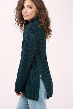 Zip It Good Mock Neck Sweater at Tobi.com #shoptobi