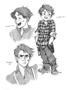 character design exercise by Razuri-chan on deviantART Character Design Cartoon, Character Sketches, Character Design References, Character Drawing, Character Design Inspiration, Character Concept, Art Sketches, Art Drawings, Male Character