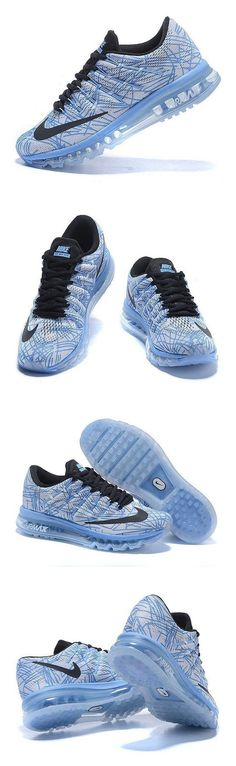 $199.99 - Nike WMNS Air Max 2016 Print 818101-400 Chalk Blue/Sail/Black Women's Shoes (size 11) #shoes #nike #2016