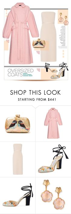 """""""Sparkle Wool Blend."""" by s-elle ❤ liked on Polyvore featuring Serpui, Simone Rocha, Elizabeth and James, Jimmy Choo, Pasquale Bruni, By Terry and oversizedcoats"""