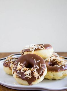 BAKED PINEAPPLE DONUTS WITH CHOCOLATE GLAZE & TOASTED COCONUT