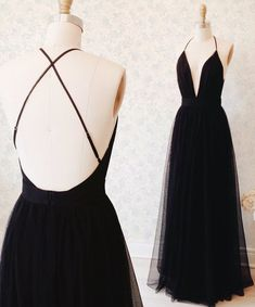 Sexy Black Sleeveless Prom Dress 2017 Long Tulle Floor Length BA3178_High Quality Wedding Dresses, Prom Dresses, Evening Dresses, Bridesmaid Dresses, Homecoming Dress - 27DRESS.COM