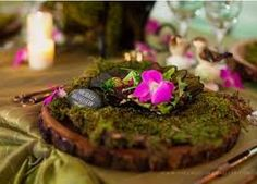 mossy place setting