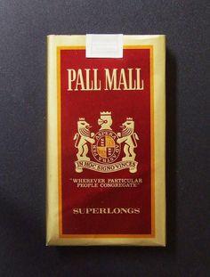 Embalagem de Pall Mall Superlongs Vintage Cigarette Ads, Cigarette Brands, Cigarette Box, Vintage Tools, Vintage Labels, Vintage Ads, Vintage Posters, Pall Mall, Retro