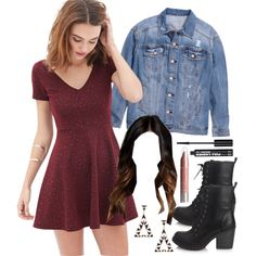 Aria Montgomery inspired outfit by liarsstyle on Polyvore featuring Forever 21 and H&M