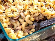Mac& Cheese with Chicken and Mushrooms