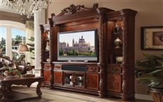 Acme Vendome II Entertainment Center in Cherry Finish 91315 for sale online Oak Furniture Land, Pool Furniture, Acme Furniture, Furniture Direct, Quality Furniture, Furniture Ideas, Furniture Dolly, Furniture Removal, Furniture Stores